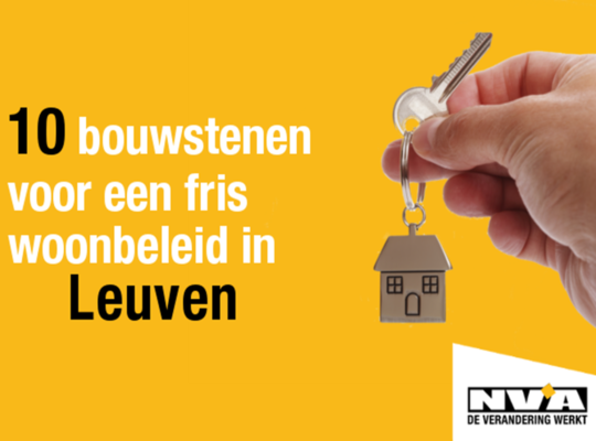 10 Slimme bouwstenen voor een fris woonbeleid in Leuven