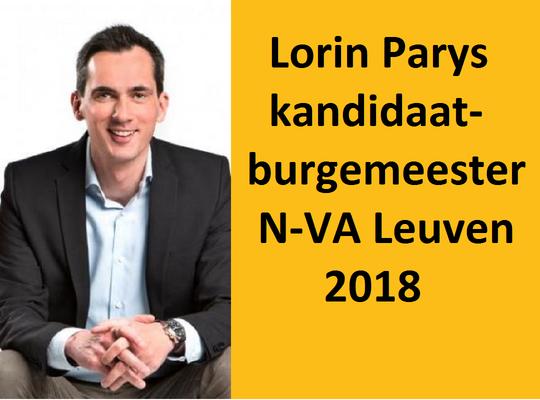 Lorin Parys kandidaat-burgemeester N-VA Leuven