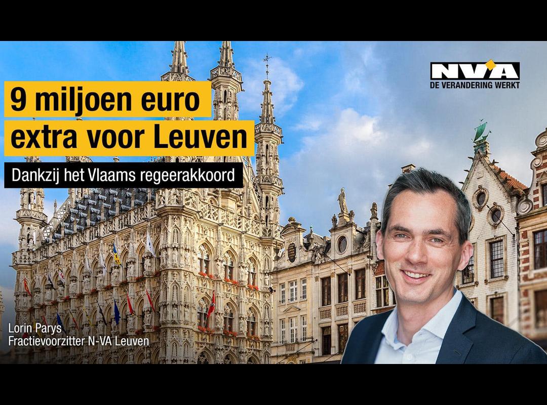 9 Milj voor Leuven