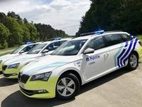 politie auto fluo-geel